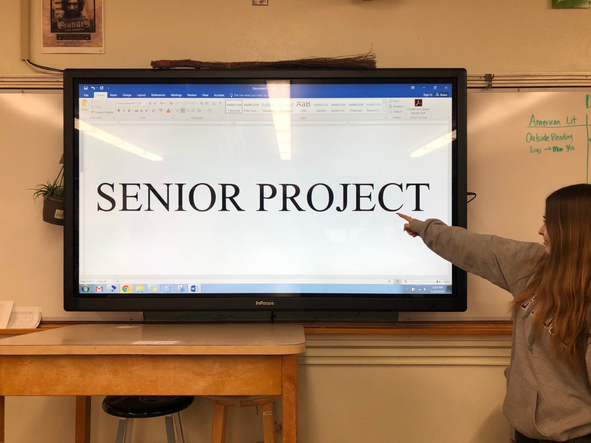 Senior project should be viewed as an opportunity not an obligation